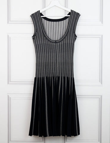 ALAIA Signature sleeveless dress with dots