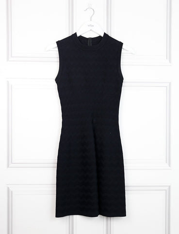 Alaia black sleeveless fitted dress 8UK- My Wardrobe Mistakes