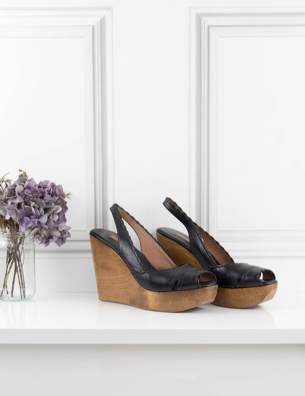 ALAIA SHOES Wedge sandals with wooden heel 7UK- My Wardrobe Mistakes