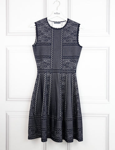 Alexander McQueen multicolour sleeveless midi dress with cutout details 8UK- My Wardrobe mistakes