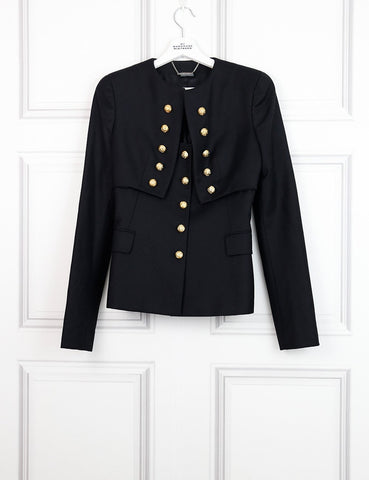 Alexander McQueen black military tailored jacket 6UK- My Wardrobe Mistakes