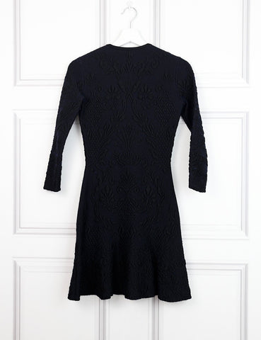 ALEXANDER McQUEEN Embossed knit dress