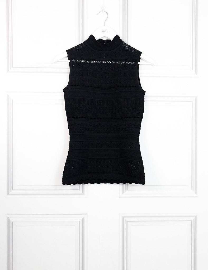 Alexander McQueen black sleeveless top in lace 8UK- My Wardrobe Mistakes