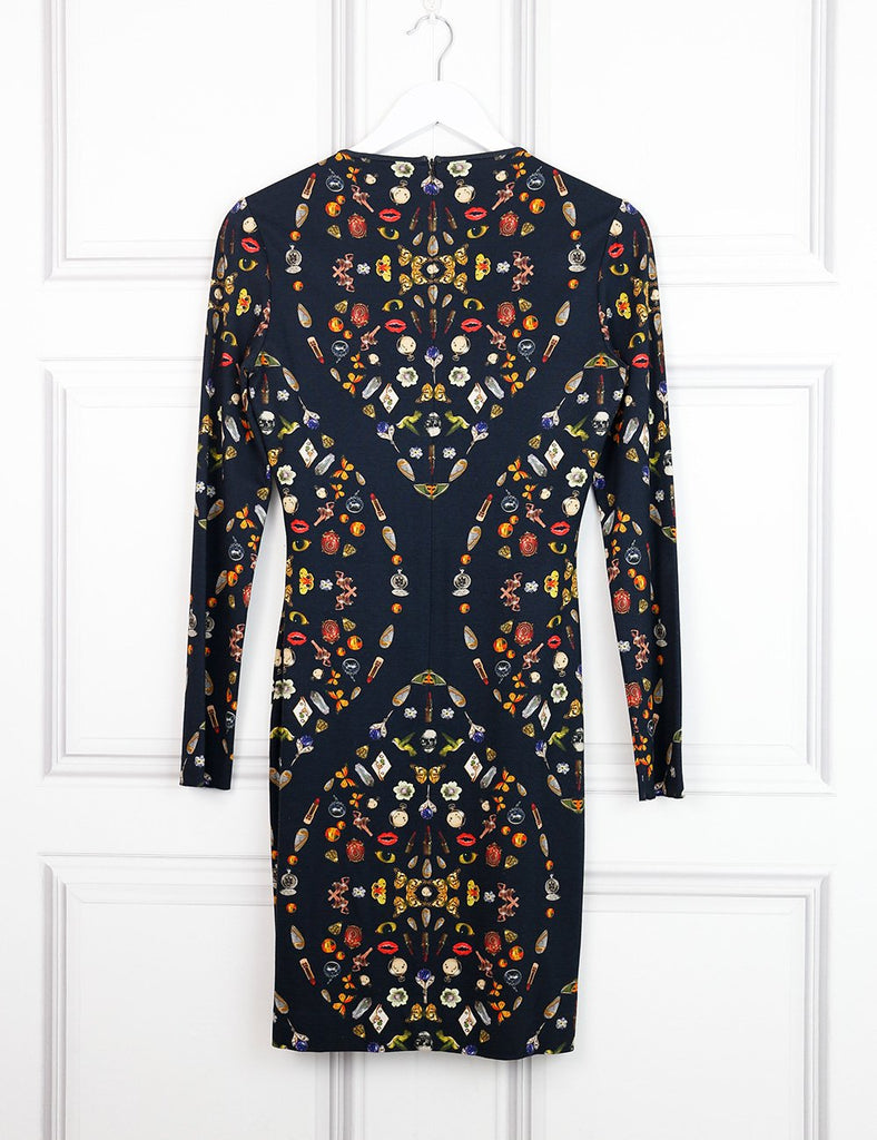 Alexander McQueen multicolour fitted dress with print 10UK- My Wardrobe Mistakes