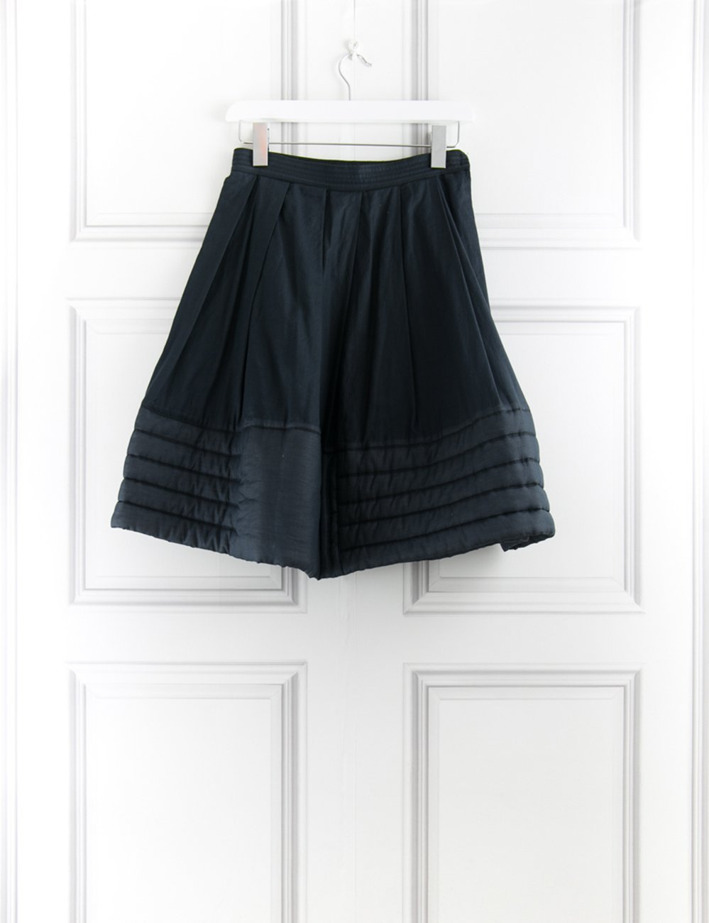 Alexander McQueen black skirt with quilted hem 8UK- My Wardrobe Mistakes