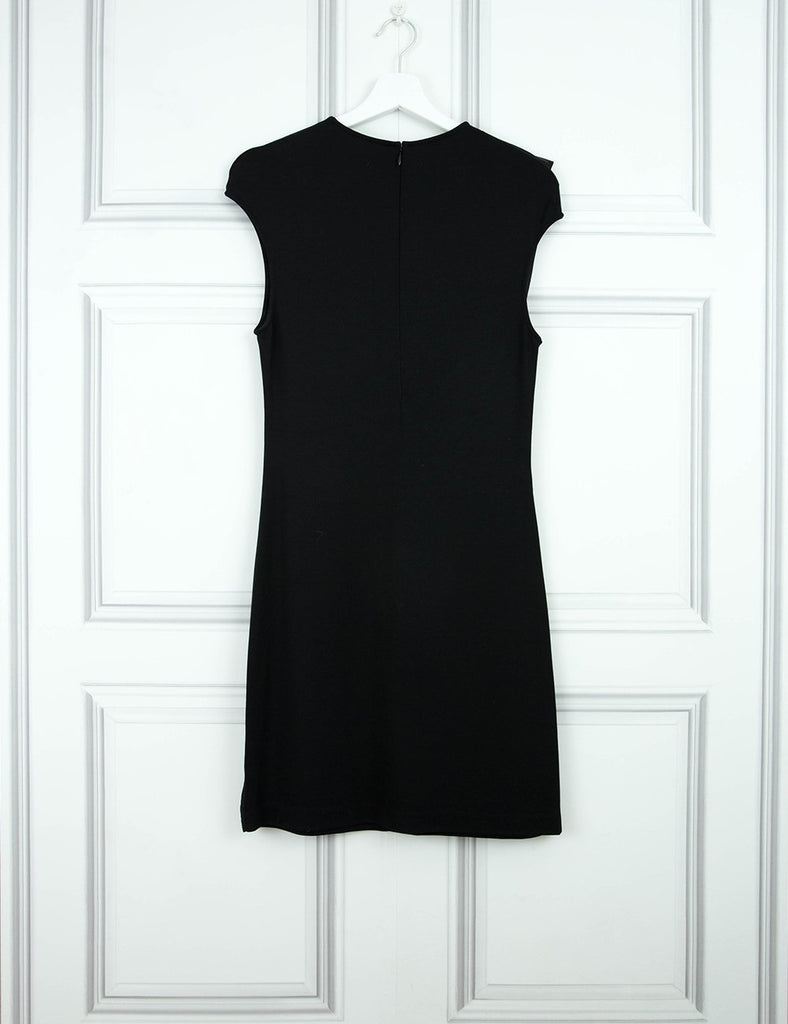 ALEXANDER MCQUEEN CLOTHING Sleeveless satin pleat dress