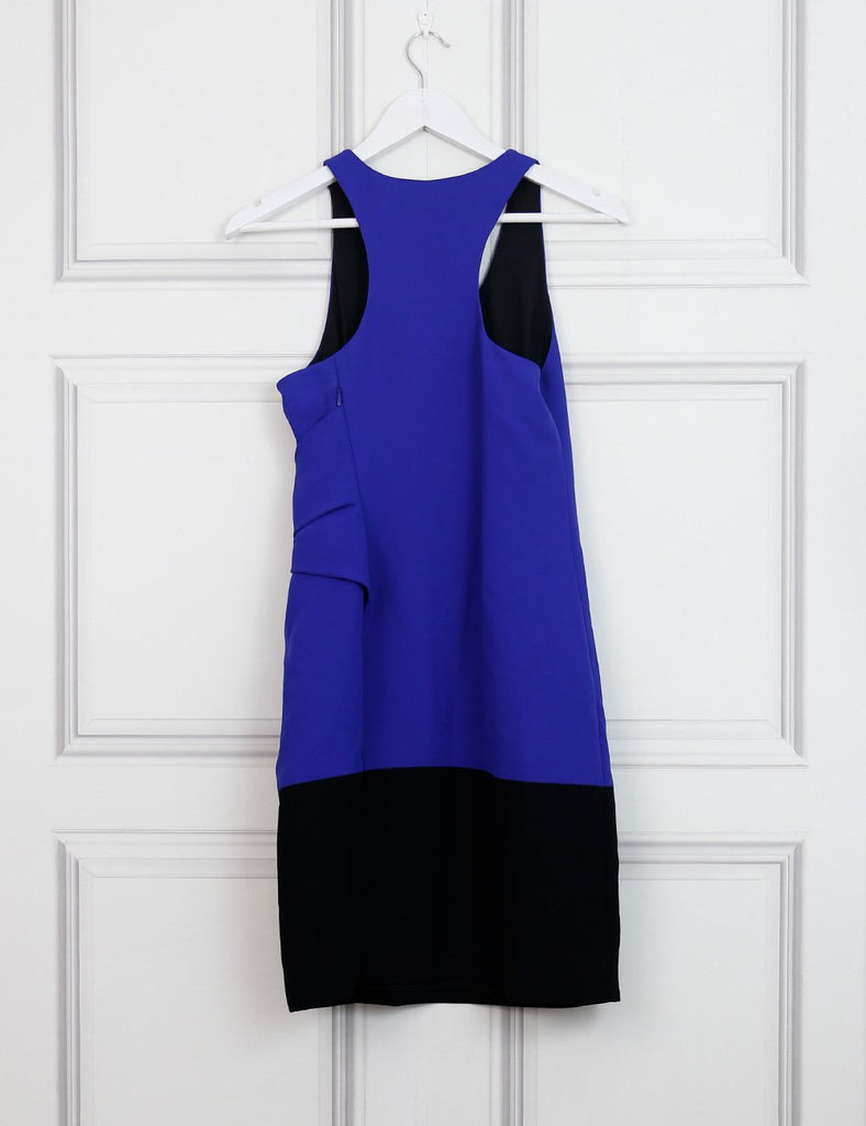 Alexander Wang multicolour colorblock cross front drape dress 6Uk