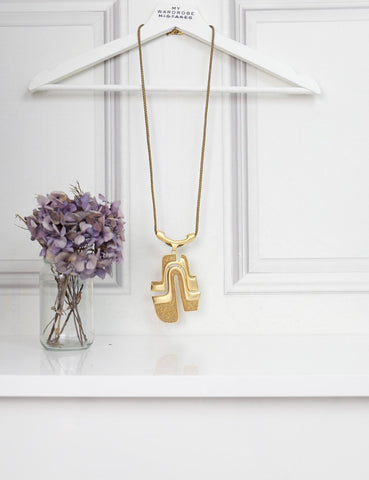 ALEXIS BITTAR ACCESSORIES One size / Gold ALEXIS BITTAR Tribal necklace with chain details