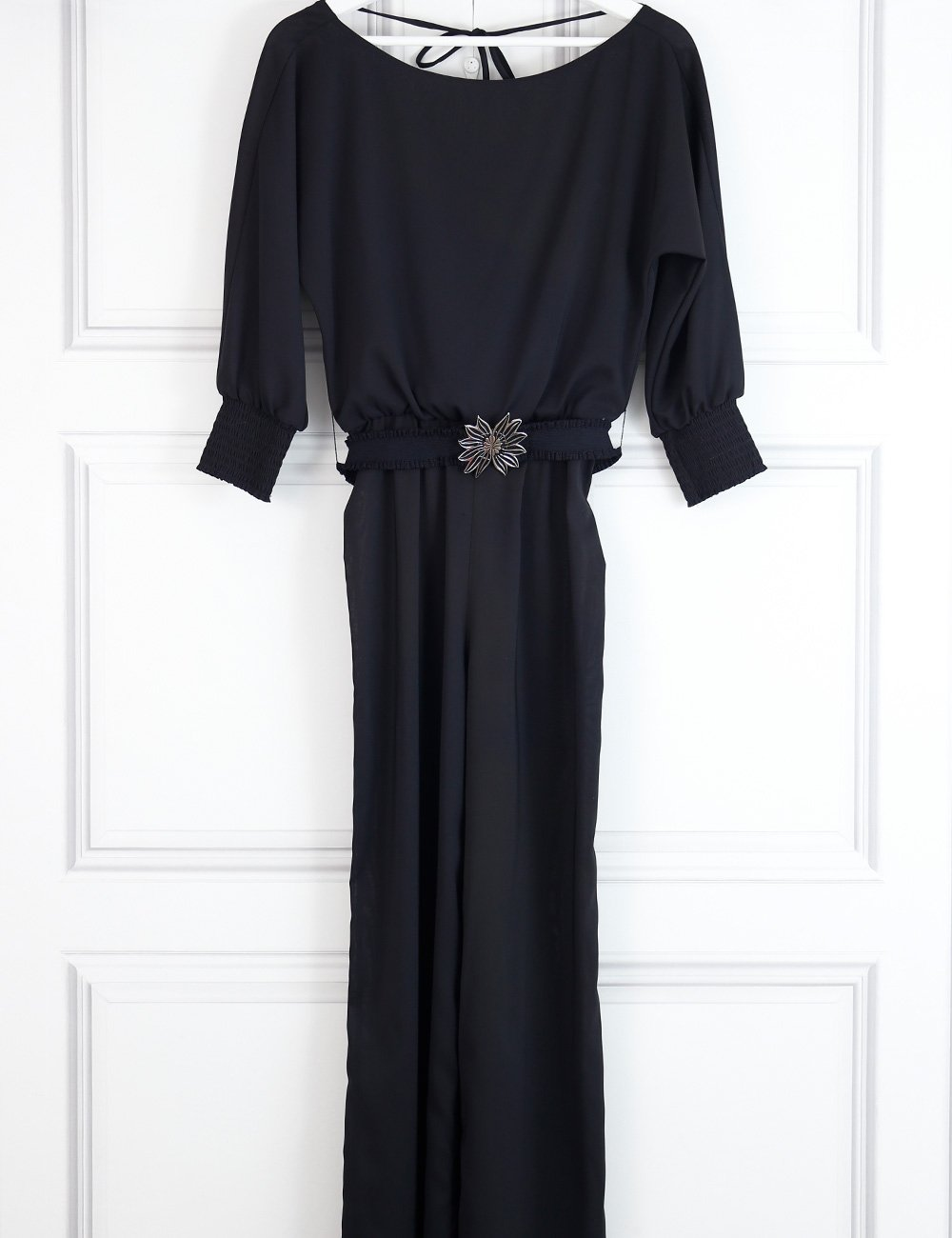 Alice+Olivia black belted jumpsuit with long sleeves 8UK- My Wardrobe Mistakes