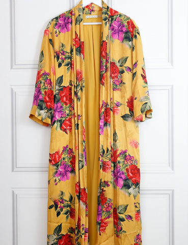 Alice+Olivia multicolour Kalena floral print long draped kaftan 8Uk- My Wardrobe Mistakes