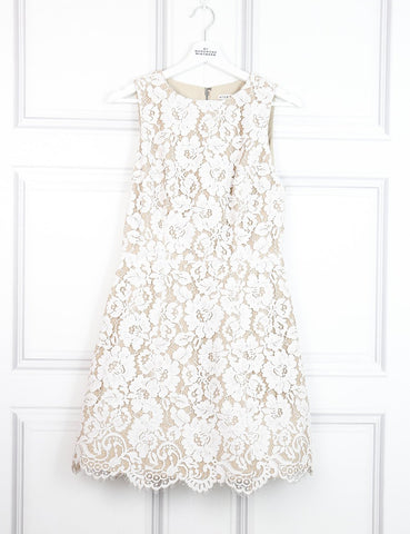 Alice+Olivia white Leann sleeveless dress 10UK- My Wardrobe Mistakes