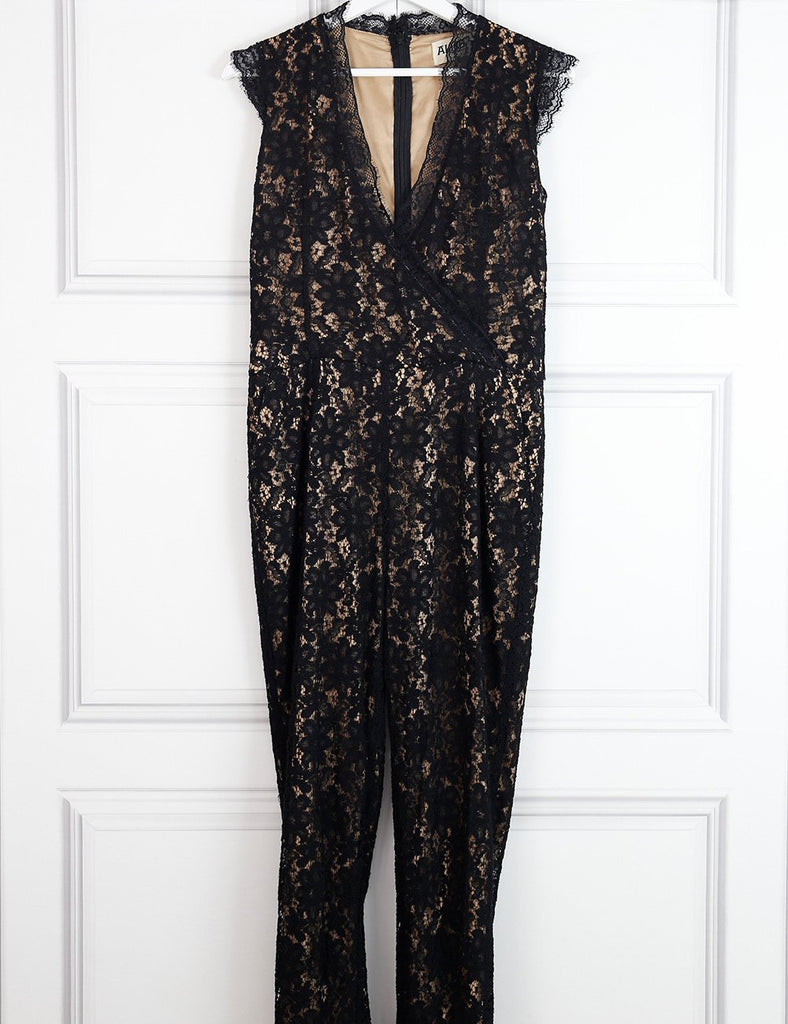 Alice by Temperley multicolour Kitty lace jumpsuit 10UK- My Wardrobe Mistakes