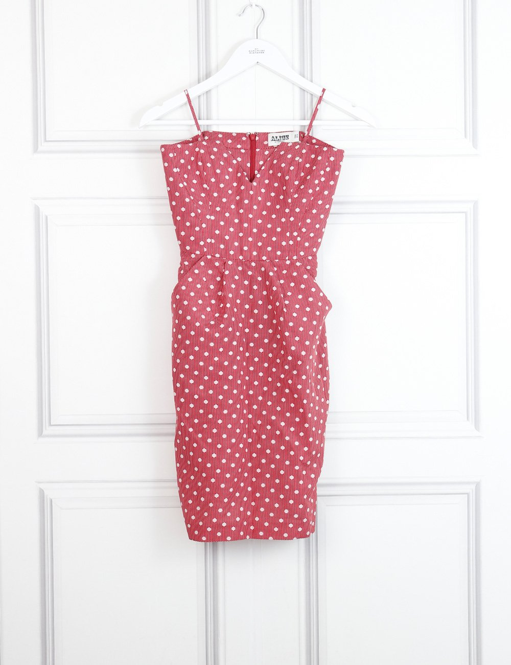 Alice by Temperley multicolour strapless dress with polka dots 8Uk- My Wardrobe Mistakes