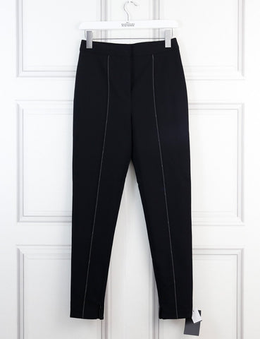 Altuzarra black mead crepe skinny pants 8Uk