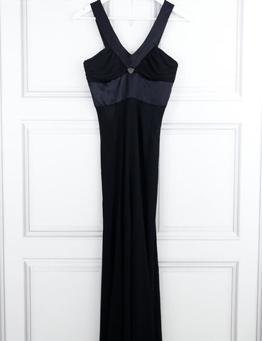 Amanda Wakeley black sleeveless floor-length dress 8UK- My Wardrobe Mistakes