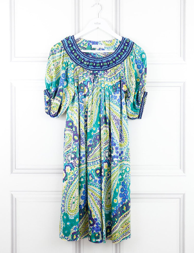 Andrew GN multicolour silk dress with jewel embellishments 8UK- My Wardrobe Mistakes