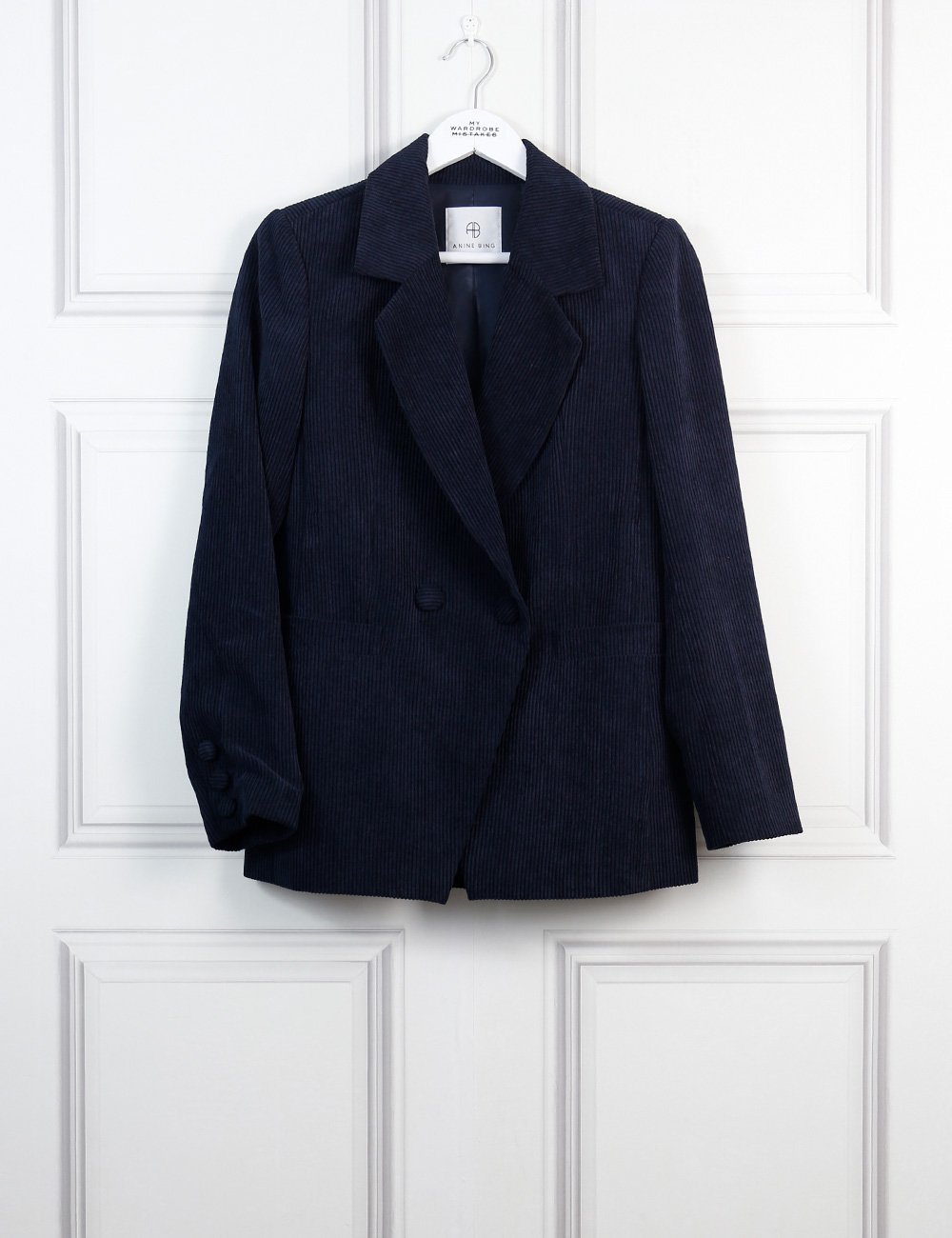 Anine Bing blue Grace corduroy blazer 8Uk