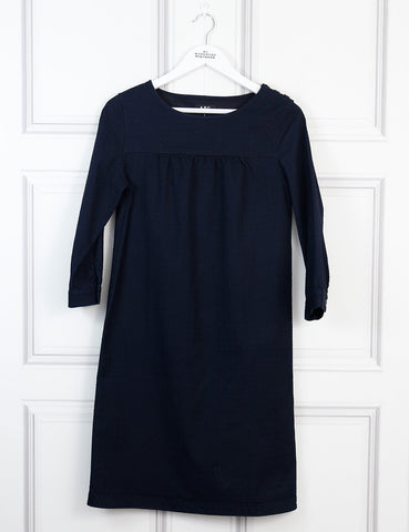 APC black Swiss dot straight dress 10 Uk- My Wardrobe Mistakes