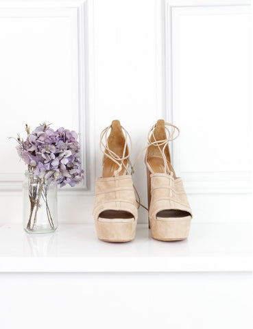 AQUAZZURA Very Eugenie Suede and Leather Sandals
