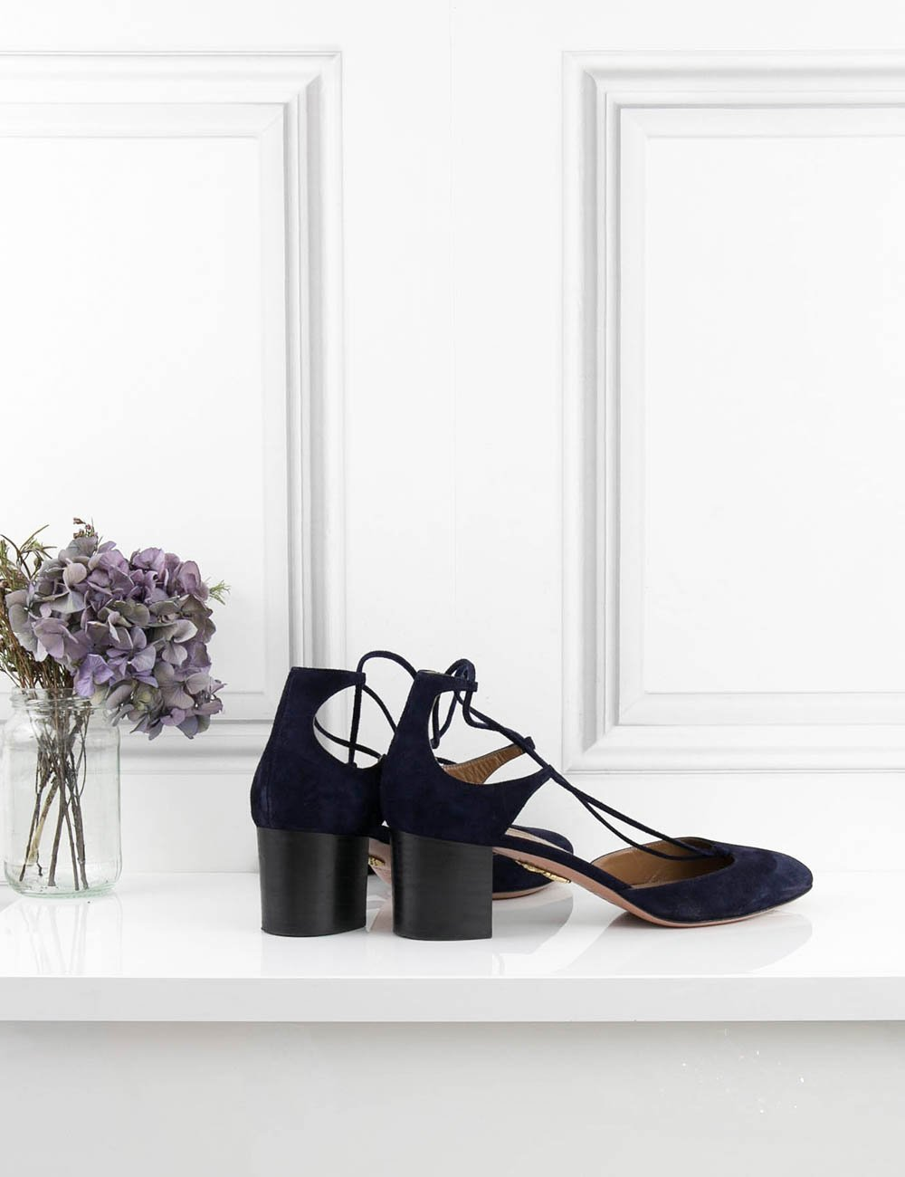 AQUAZZURA SHOES Boheme Block-heel Pump
