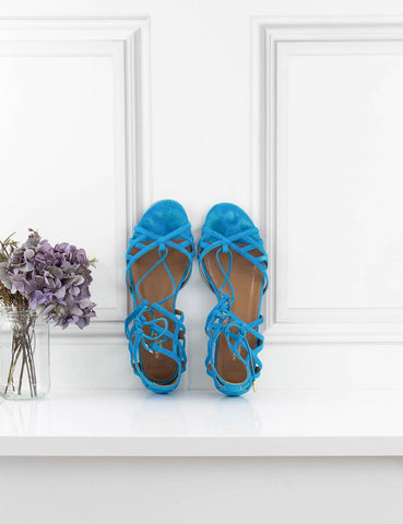 AQUAZZURA Shoes Ginger Lace-Up Flat Sandals- My Wardrobe Mistakes