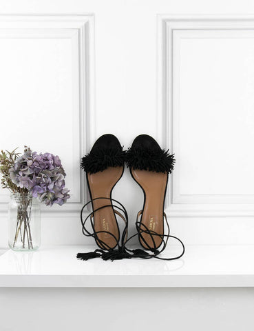 Aquazzura black Wild Thing 50 sandals 5UK- My Wardrobe Mistakes