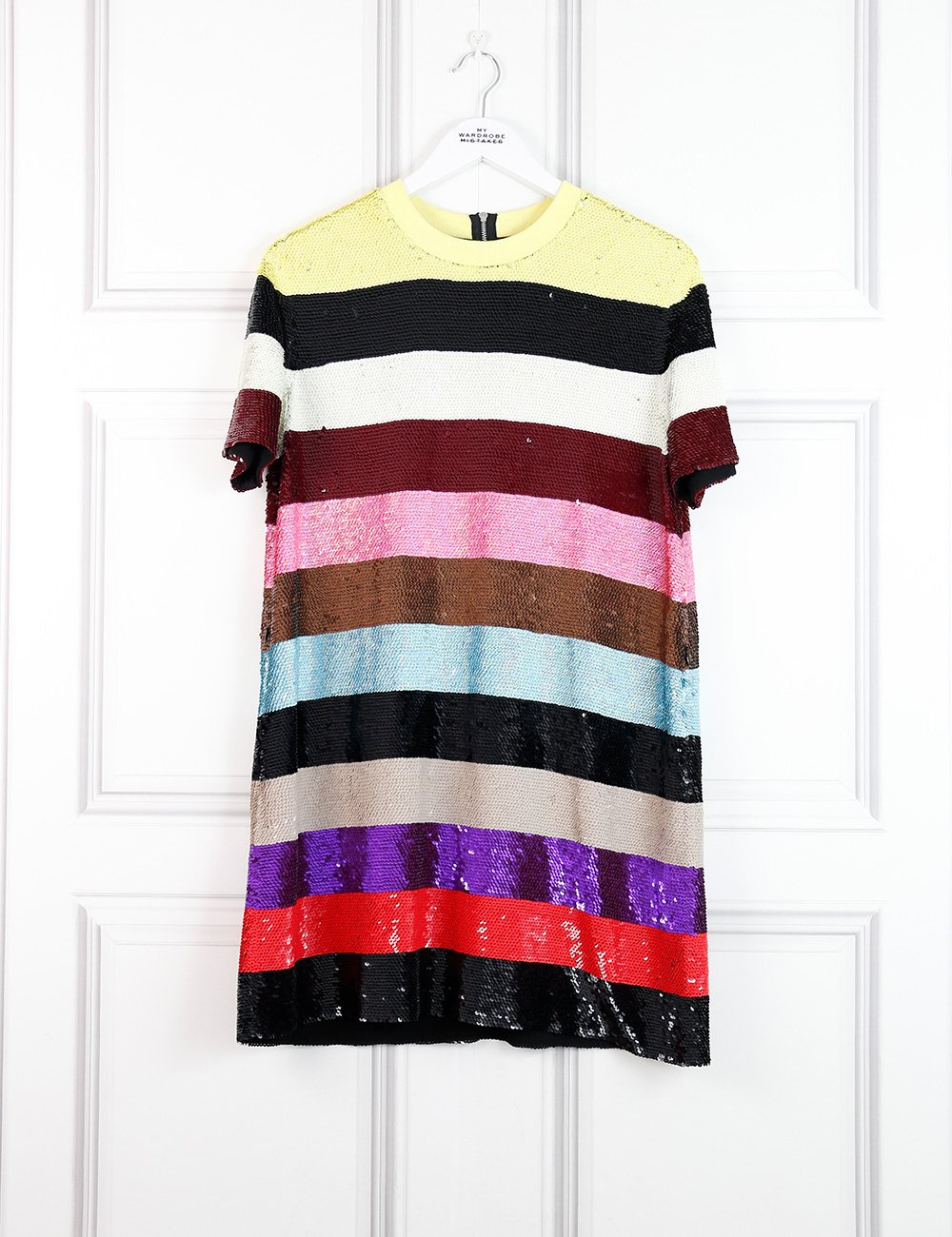 Ashish multicolour striped sequinned short dress 10Uk- My Wardrobe Mistakes