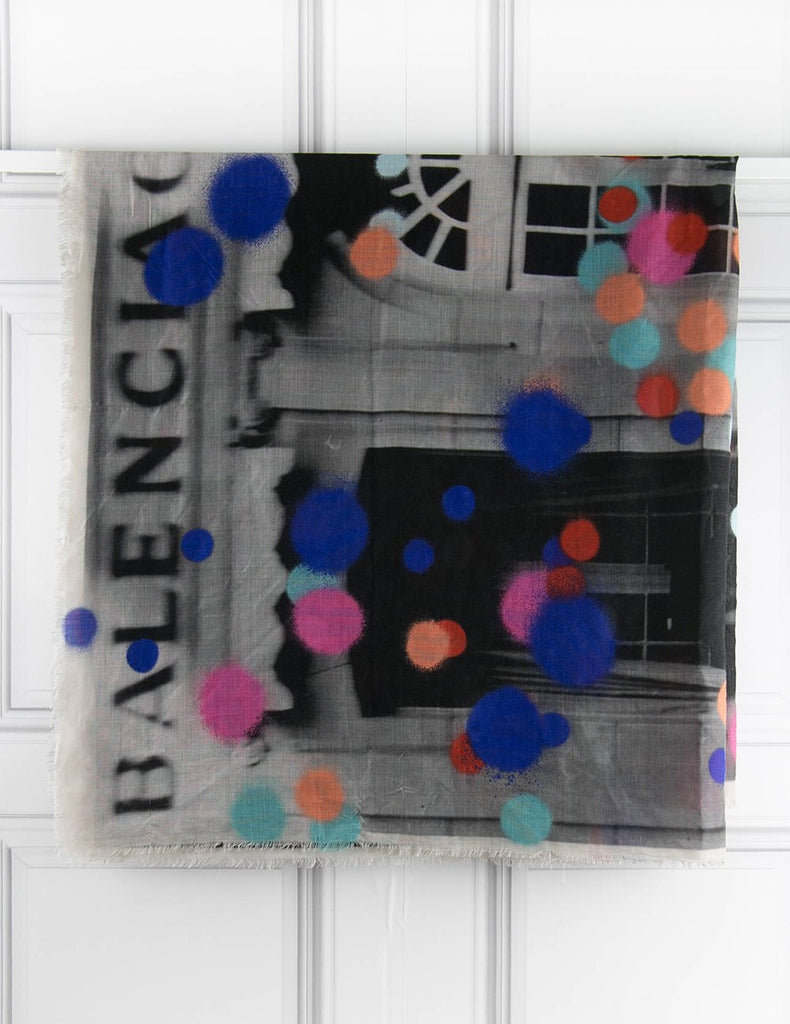 BALENCIAGA ACCESSORIES Scarf with colourful dots