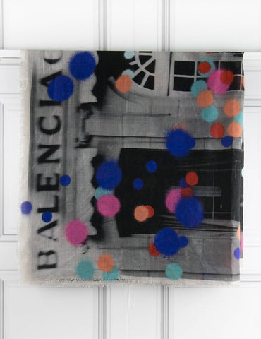 BALENCIAGA ACCESSORIES Scarf with colourful dots- My Wardrobe Mistakes