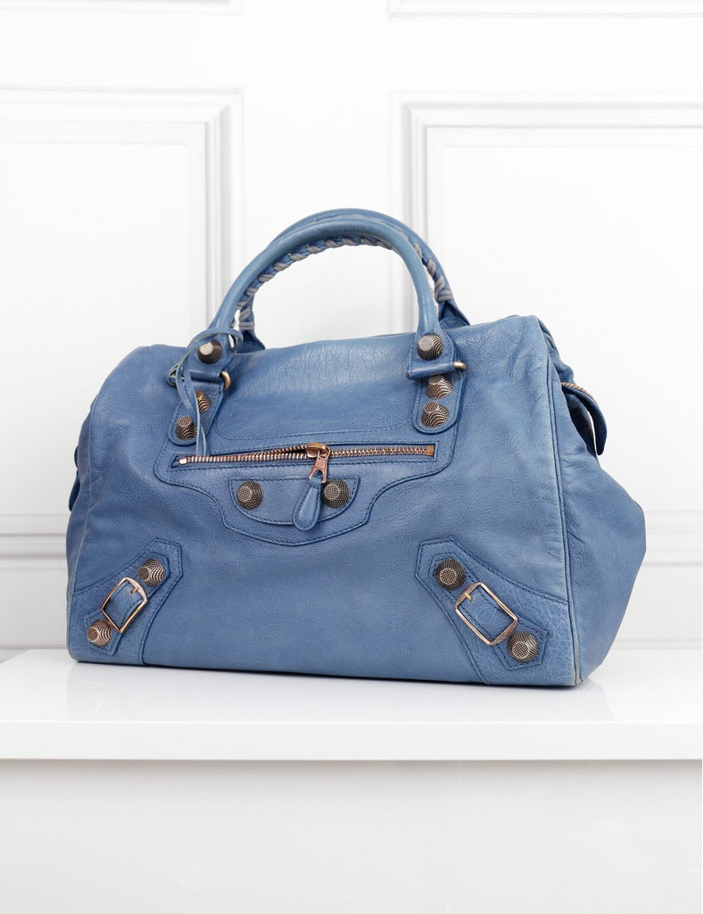 Balenciaga blue City bag- My Wardrobe Mistakes