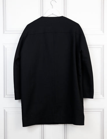 BALENCIAGA Box-cut 3/4 length sleeve coat with pocket detail