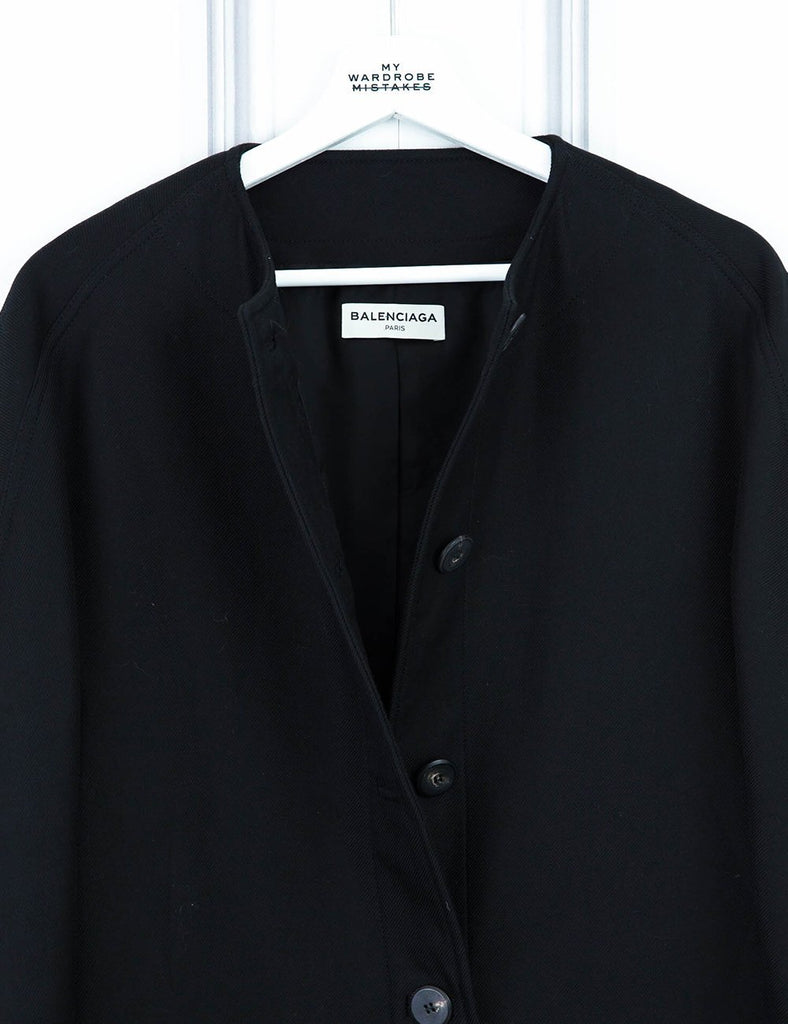 BALENCIAGA CLOTHING Box-cut 3/4 length sleeve coat with pocket detail 10UK- My Wardrobe Mistakes