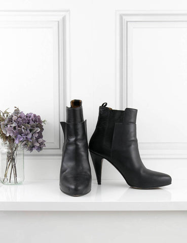 BALENCIAGA SHOES Almond toe boots BLACK 6UK- My Wardrobe Mistakes