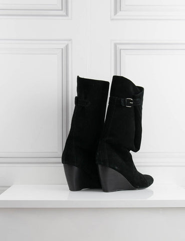 BALENCIAGA SHOES black Mid-length boots in suede 7UK- My Wardrobe Mistakes