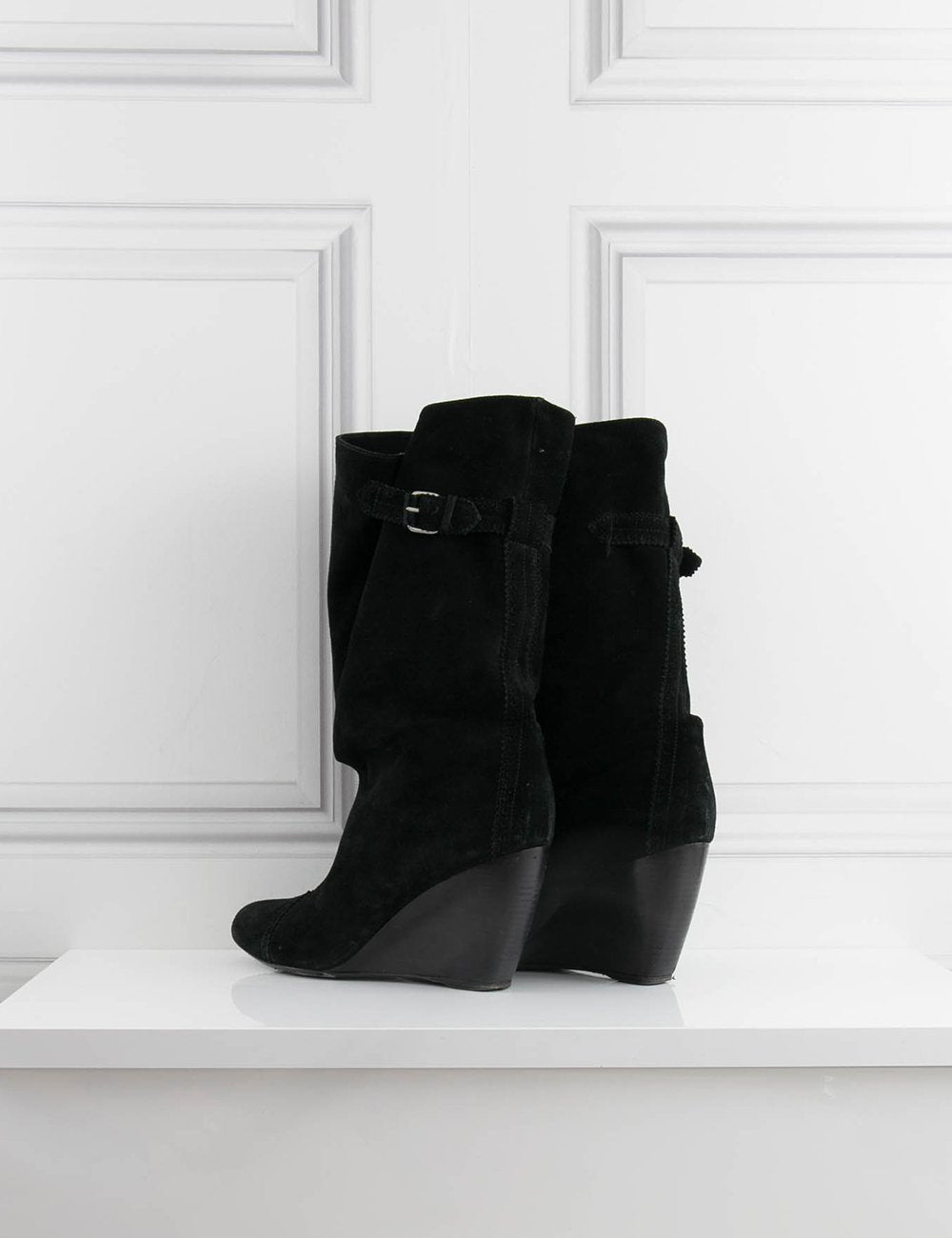BALENCIAGA SHOES Mid-length boots in suede
