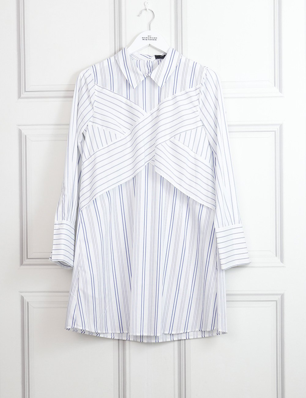 BCBG CLOTHING 12UK-44IT-40FR / Multicolour BCBG Azriel striped shirt dress