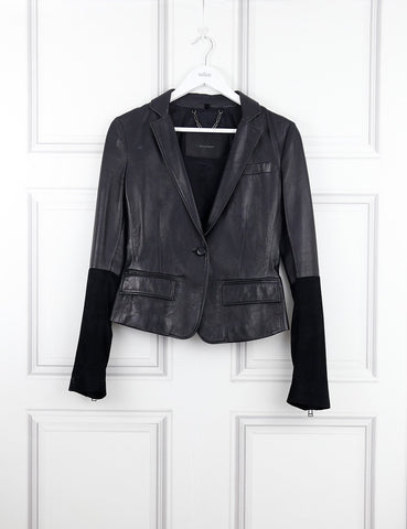 Belstaff black leather jacket 8UK- My Wardrobe Mistakes