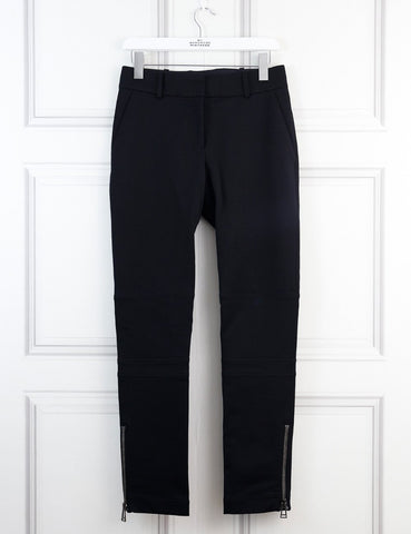 Belstaff black trousers with side pockets and ankle zips 8Uk