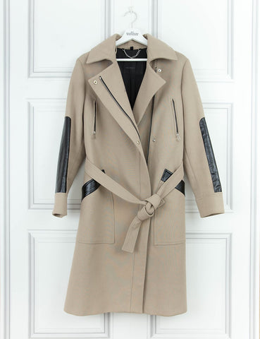 BELSTAFF CLOTHING Trench coat with leather details 8UK- My Wardrobe Mistakes