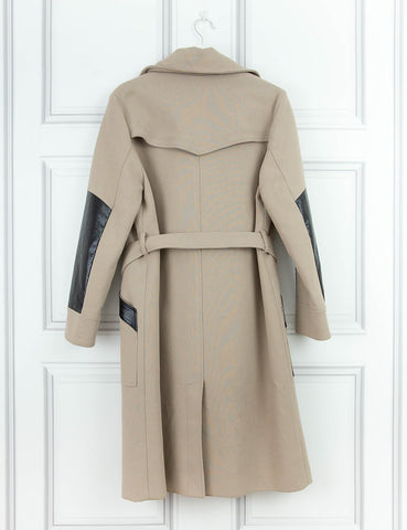 BELSTAFF CLOTHING Trench coat with leather details
