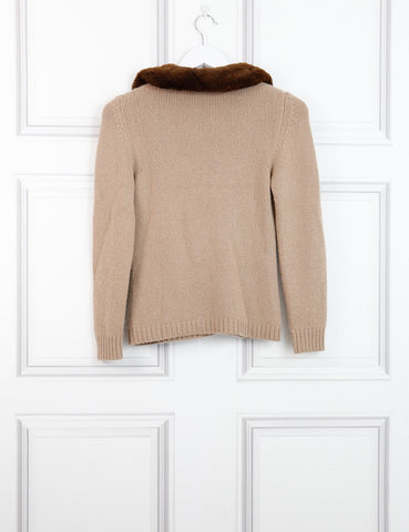 BLUMARINE Cashmere cardigan with contrasted neckline