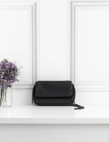 BOTTEGA VENETA BAGS Classic intrecciato small clutch on a chain