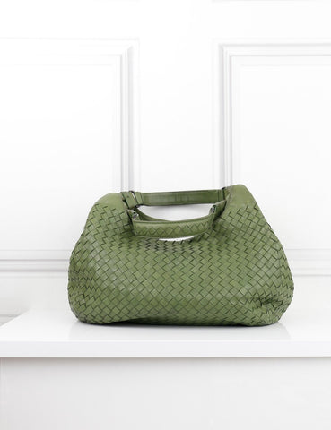 Bottega Veneta green hobo leather bag- My Wardrobe Mistakes