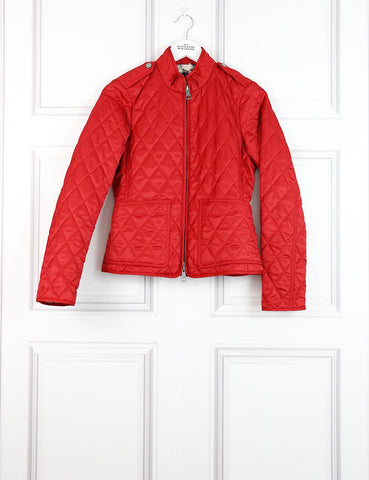 Burberry Brit red quilted jacket 6UK- My Wardrobe Mistakes