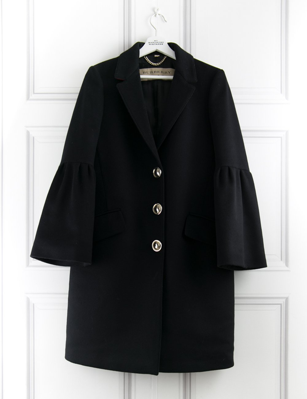 BURBERRY CLOTHING 3 buttons coats with oversize sleeves