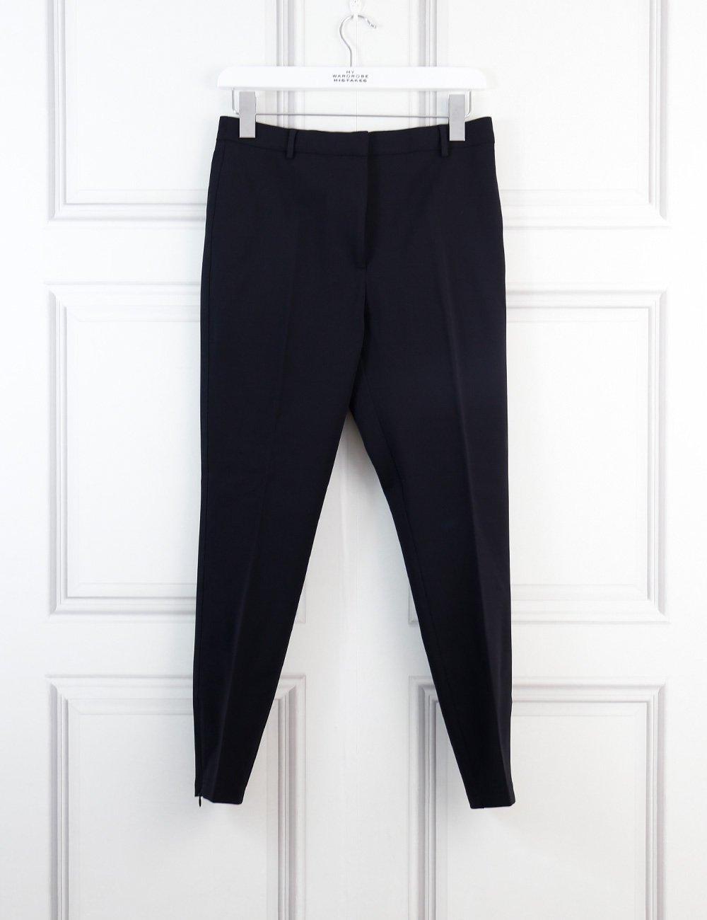Burberry black tailored trousers with ankle zips 8Uk