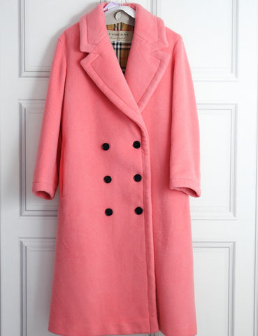 Burberry pink double faced wool cashmere cocoon coat- My Wardrobe Mistakes
