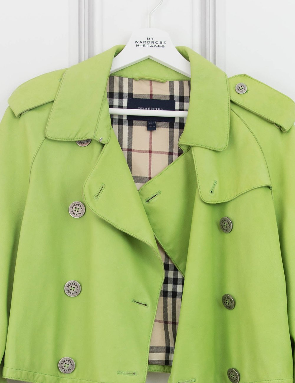 BURBERRY CLOTHING green Cropped jacket 12UK- My Wardrobe Mistakes