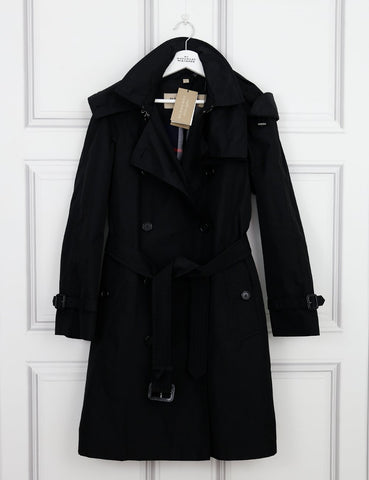 BURBERRY CLOTHING Detachable Hood Taffeta Trench Coat