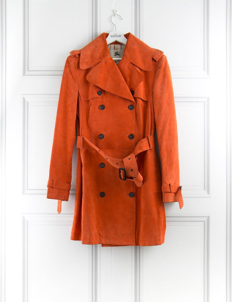 BURBERRY CLOTHING Suede 3/4 length classic trench